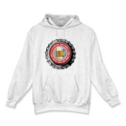 Men's Hooded Sweatshirt with Red 365 Bars Logo.