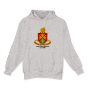 158th Artillery, MLRS - Light Color Hooded Sweatshirts: Front Insignia Only, Available in 3 Light Colors.