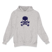 Navy Skull Hooded Sweatshirt