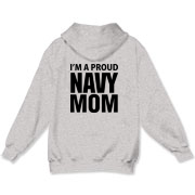 Proud...NAVY For Moms Apparel Hooded Sweatshirt