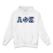 Blue Camo -  Hooded Sweatshirt