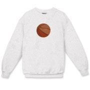 A basketball is the feature of this Adult Crewneck Sweatshirt.