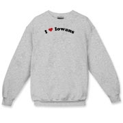 Call it I love Iowans or I heart Iowans, this is how you can show your love for Iowans. Exclusive design featuring cool curved text with a strong red heart.