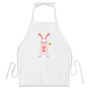 Celebrate Chinese New Year with this cute year of the metal rabbit apron! This rabbit is happily carrying a red and gold pinwheel with bells! Also a great gift for someone who just loves rabbits! Red Version.