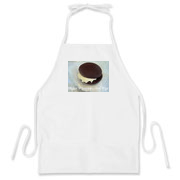 Show your love of whoopie pies with this cute apron with the saying Make Whoopie, Not War