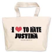 I Love To Hate Justina Jumbo Tote Bag