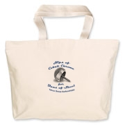 Hips of Chrome Logo Jumbo Tote Bag
