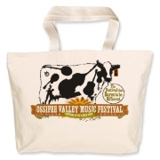 The Ossipee Valley Music Festival Acoustic Cow Jumbo Tote Bag