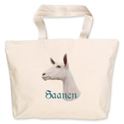 High quality drawing of a Saanen Dairy goat on a great product