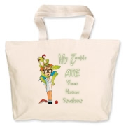 My Zombie Ate Your Accessories Jumbo Tote Bag