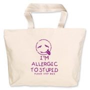 Allergic To Stupid Accessories Jumbo Tote Bag