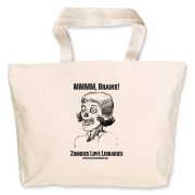 Zombies love brains, libraries feed brains! Help keep the poor zombies from starving!