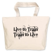 Live to Train, Train to Live Jumbo Tote Bag