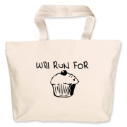 Will Run for Cake Jumbo Tote Bag