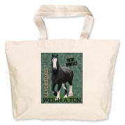 awesome custom drawn black Clydesdale on this high quality product