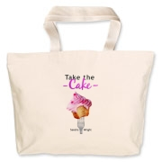 Take the Cake Jumbo Tote Bag