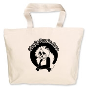 Panda Jenn appears front and back on this super cute tote bag. Perfect for any day trip or outing!