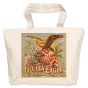 Golden Eagle Tobacco is a vintage cigarette poster from the 1900's. This retro t-shirt has a distressed look as though you've had it for years.