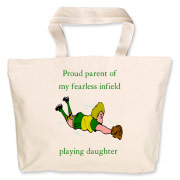 Proud of Infielder Daughter Jumbo Tote Bag