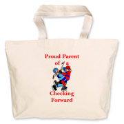 Proud of Checking Forward Jumbo Tote Bag