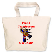Goalie Grandparent Jumbo Tote Bag