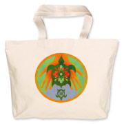 Turtle Hands Jumbo Tote Bag