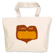 A little country inspired, this jumbo tote celebrates the fall of the year.