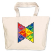 Sea turtles in triangles in an alternating rainbow of colors. A simple and colorful sea turtle design.