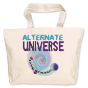 An alternate universe is a separate and self-contained universe existing as consequence of different choices and outcomes than those that have led to our own universe.  Sport this T-Shirt as a statement.
