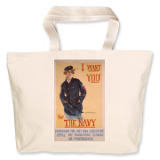 I Want You...for the Navy Jumbo Tote Bag