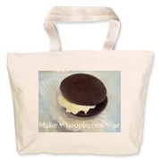 Show your love of whoopie pies with this tongue and cheek saying Making Whoopie, Not War.