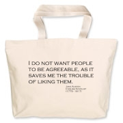 Agreeable  Jumbo Tote Bag