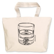 glass half full Jumbo Tote Bag
