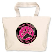 Grizzly  Jumbo Tote Bag