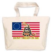 Don't Tread on me- Revolutionary Jumbo Tote Bag