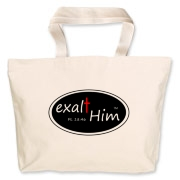 exalt Him with this handy Jumbo Tote bag!