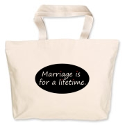 Take a stand for marriage with this Jumbo Tote Bag