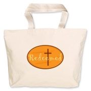 Redeemed  Jumbo Tote Bag