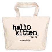 Hallo Kitten Jumbo Tote Bag