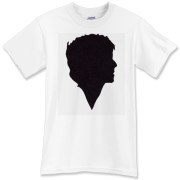 A silhouette of groovy 60's icon Donovan. Sorry it's not on a kaftan.