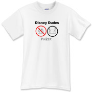 Disney Dudes Podcast Warning T-Shirt