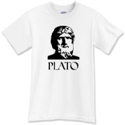 Finally, a Plato shirt to call your own.  Plato's face stares at you from the front, and his best advice is delivered on the back of this tee.  If you were wise, you'd buy this Plato shirt from Murchada Outfitters!