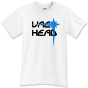 Vac Head (Black-Blue) T-Shirt