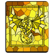 The Dragonor logo as a stained glass mosaic, on a mousepad for your computer!