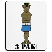 3-Pak is a fitness guru in Mutant Town.  He's got some chiseled rock hard abs (Three!), and if he had arms, he'd be happy to point you to the gun show.