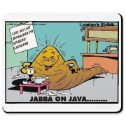This is the perfect Star Wars gift or collectible, Jabba On Java, available on tees, tops, coasters, water bottles and much more and at amazingly low prices.