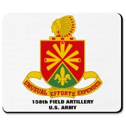 158th Artillery, MLRS - Computer Mousepad: Compatible with both the traditional and wireless mouse.