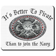 It´s better to pirate than to join the Navy - and you can say that again! Skull, snakes and crossed bones design for fearless pirates !