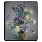 This arrangement of brightly colored carnations, originally rendered in vibrant oils, is faithfully reproduced here on a wide variety of beautiful products.