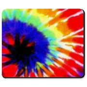Tie dye design Mousepad. Add a burst of color to your desktop.
